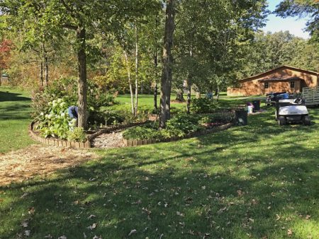 Gardening at Half Moon Trail Resort - winterizing #1